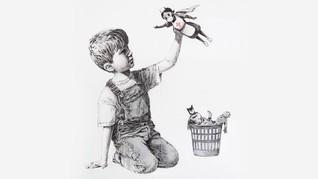 Karya Terbaru Banksy untuk Tenaga Medis Corona di Inggris
