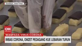 VIDEO: Imbas Corona, Omzet Pedagang Kue Lebaran Turun