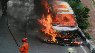 Toyota Repsons Soal Alphard Terbakar di Pondok Indah