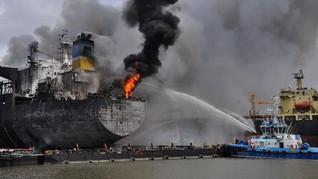 Kebakaran Kapal Tanker Medan, 6 Korban Tewas Sulit Dikenali
