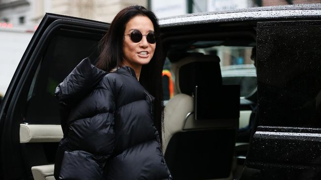 NEW YORK, NEW YORK - FEBRUARY 11: American fashion designer Vera Wang is seen leaving her Vera Wang show during New York Fashion Week on February 11, 2020 in New York City.   Donell Woodson/Getty Images/AFP