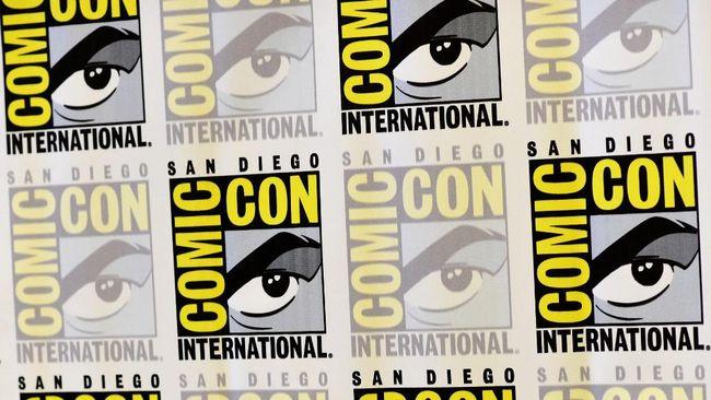 SAN DIEGO, CA - JULY 22: Logo backdrop as seen at