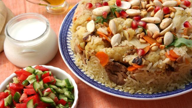 Maqluba, sometimes pronounced as Maaluba or Magluba (Arabic: مقلوبة) is a traditional dish of the Arab Levant and Palestine.The dish includes a meat, rice and fried vegetables placed in a pot, which is then flipped upside down when served, hence the name maqluba which translates literally as