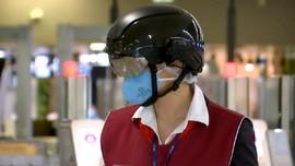 VIDEO : Helm Pintar Untuk Cek Suhu Tubuh di Bandara
