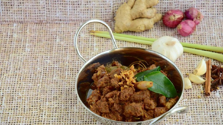 Beef Rendang, traditional dish usually served during Eid festival.