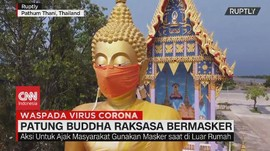 VIDEO: Patung Buddha Raksasa Pakai Masker