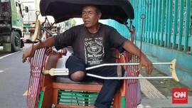 Kisah Tukang Becak Satu Kaki Mengais Rezeki di Tengah Pandemi