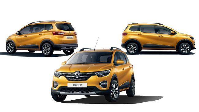 Renault Triber yang dijual di Indonesia, menggunakan pelek berbeda dari model yang diperkenalkan pada 2019.