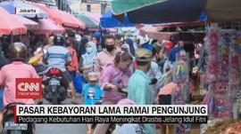 VIDEO: Pasar Kebayoran Lama Ramai Pengunjung