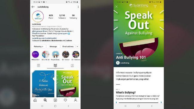 Tangkapan layar fitur Guide (Panduan) Instagram