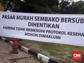 Warga Membeludak, Pasar Sembako Murah di Medan Dihentikan