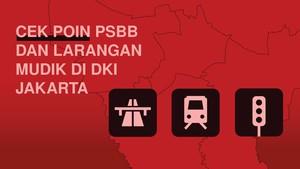 Cek Poin PSBB dan Larangan Mudik di DKI Jakarta