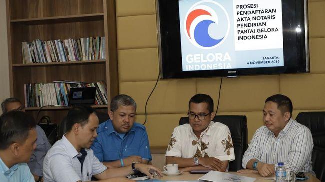 Partai Gelombang Rakyat (Gelora) Indonesia mendapat surat keputusan (SK) Menteri Hukum dan HAM sebagai badan hukum partai politik, Selasa (19/5). Partai besutan mantan Presiden PKS Anis Matta itu sah menjadi partai politik di Indonesia.