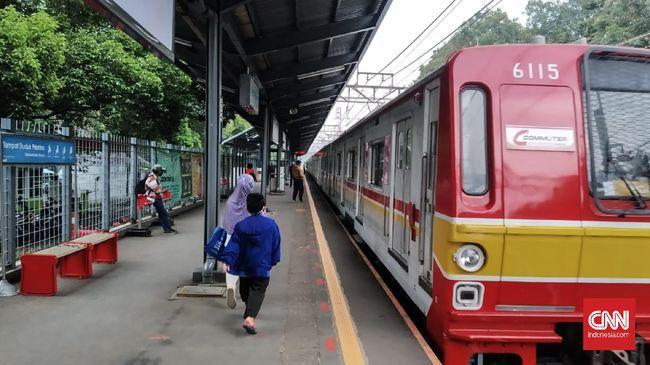 Suasana Stasiun Duren Kalibata, Senin (18/5) pagi.