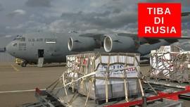 VIDEO : Pesawat Militer Amerika Antar Ventilator Ke Rusia