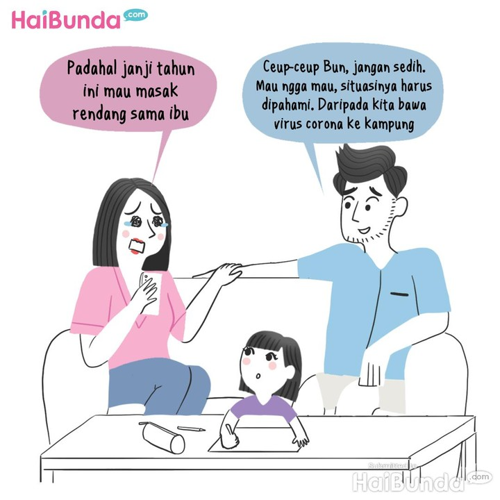 Komik Lebaran virtual