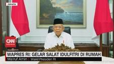VIDEO - Wapres RI: Gelar Salat Idulfitri di Rumah