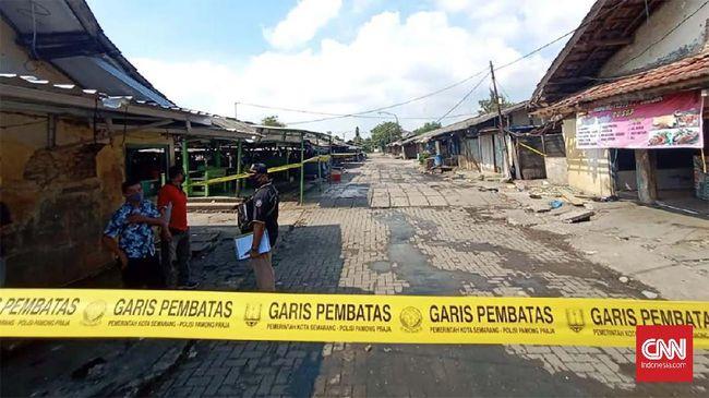 Pasar Kobong Semarang Ditutup Usai Jadi Klaster Covid 19