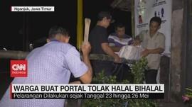 VIDEO: Warga Buat Portal Tolak Halal Bihalal