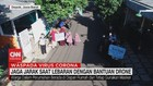 VIDEO: Jaga Jarak Saat Lebaran dengan Bantuan Drone