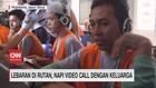 VIDEO: Lebaran di Rutan, Napi Video Call dengan Keluarga
