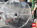 Balon Udara Tanpa Awak Jatuh Timpa Tiang Listrik di Ponorogo
