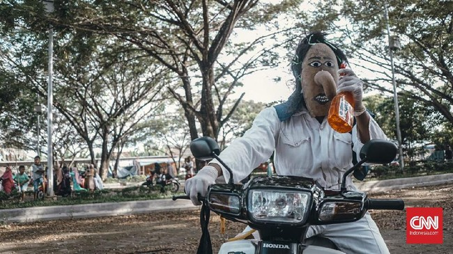 >Topeng Labu Muarajambi, Tradisi Silaturahmi di Tengah Wabah