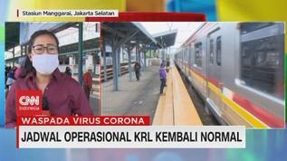 VIDEO: Jadwal Operasional KRL Kembali Normal