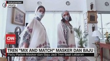 VIDEO: Tren 'Mix and Match' Masker dan Baju