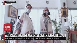 VIDEO: Tren 'Mix and Match' Masker dan Baju