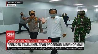 VIDEO: Didampingi Anies, Jokowi Tinjau Kesiapan 'New Normal'