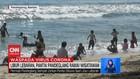 VIDEO: Libur Lebaran, Pantai Pandeglang Ramai Wisatawan