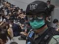 FOTO: Protes RUU Lagu Kebangsaan di Hong Kong
