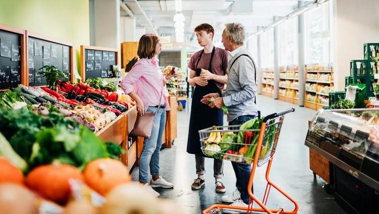 Cara aman belanja bahan makanan