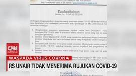 VIDEO: RS Unair Tidak Menerima Rujukan Covid-19