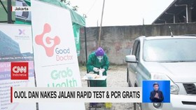 VIDEO: Ojol & Nakes Jalani Rapid test & PCR Gratis