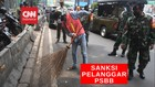 VIDEO: Tak Bisa Bayar Denda, Pelanggar PSBB Bersihkan Fasilit