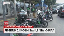 VIDEO: Pengemudi Ojek Online Sambut New Normal