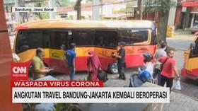 VIDEO: Angkutan Travel Bandung-Jakarta Kembali Beroperasi