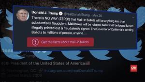 VIDEO: Kena Cek Fakta, Trump Serang Twitter