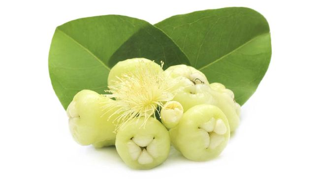 Fresh water apple or rose apple with green leaves