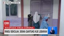 VIDEO: Rindu Sekolah, Siswa Gantung Kue Lebaran