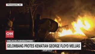 VIDEO: Aksi Protes Kematian George Floyd Meluas