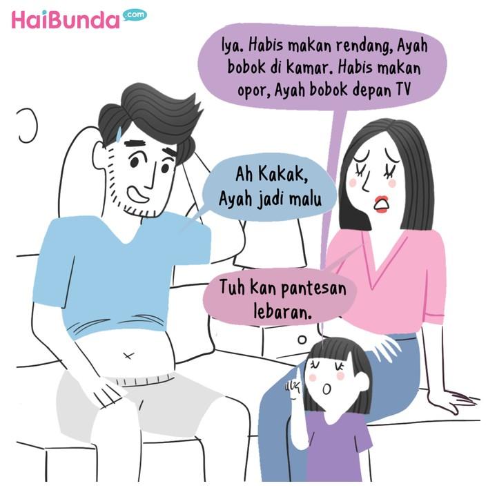 Komik HaiBunda Lebar Habis Lebaran