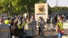 VIDEO: Karyawan Renault Protes Kebijakan Pemecatan