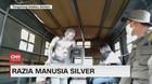 VIDEO: Kejar-kejaran Razia Manusia Silver