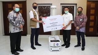 Telkom Donasi Bantuan Robot Disinfeksi untuk Atasi Covid-19