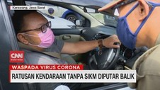 VIDEO: Ratusan Kendaraan Tanpa SIKM Putar Balik