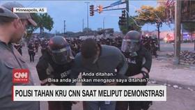 VIDEO: Polisi Tahan Kru CNN Saat Meliput Demonstrasi
