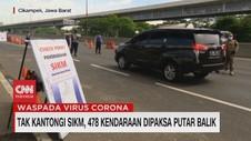 VIDEO: Tak Kantongi SIKM, 478 Kendaraan Dipaksa Putar Balik